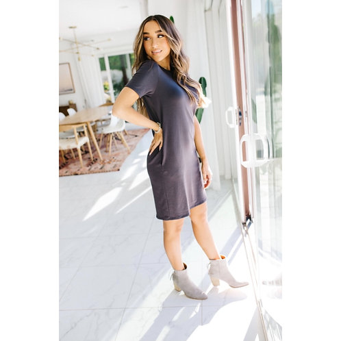 Ollie Dress - Dark Grey