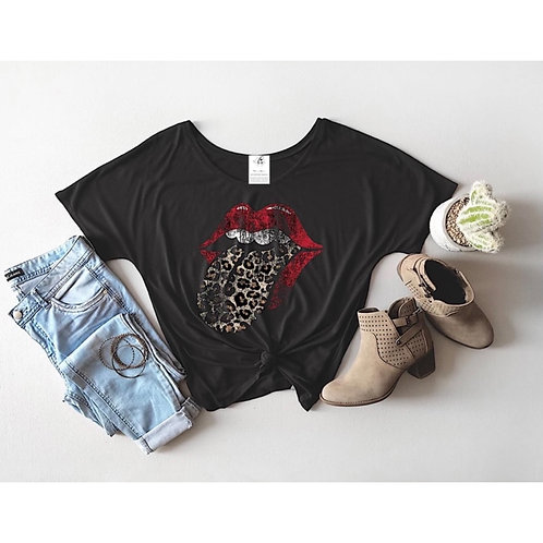 Vintage Leopard Tongue Slouch Tee