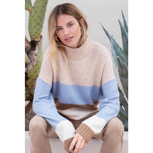 Tribal colour block sweater