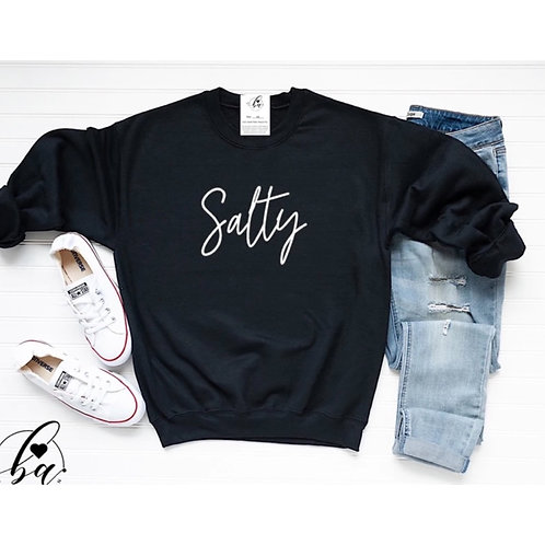 """Salty"" Crew Neck Sweatshirt"