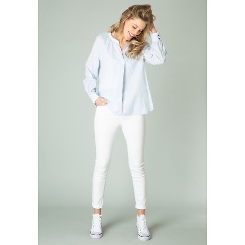 Ginya chambray/white top by Yest
