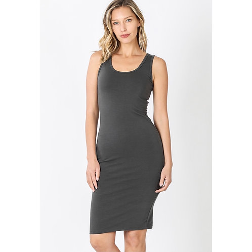 Charcoal Bodycon Dress