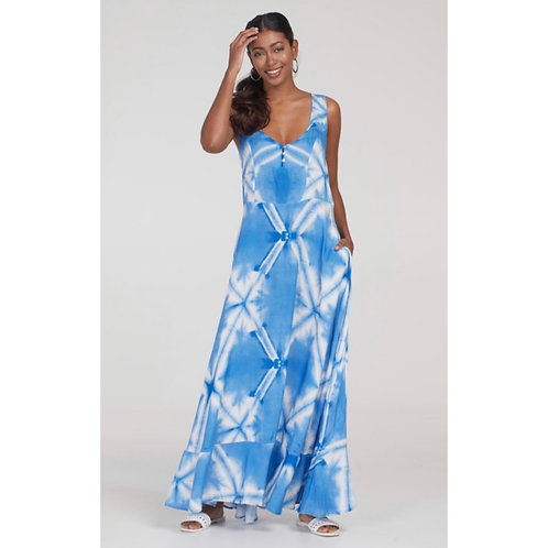 Button-Front Maxi Dress - Tribal