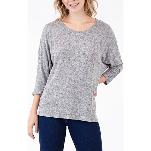 Hacci top by Natural Life - heather grey