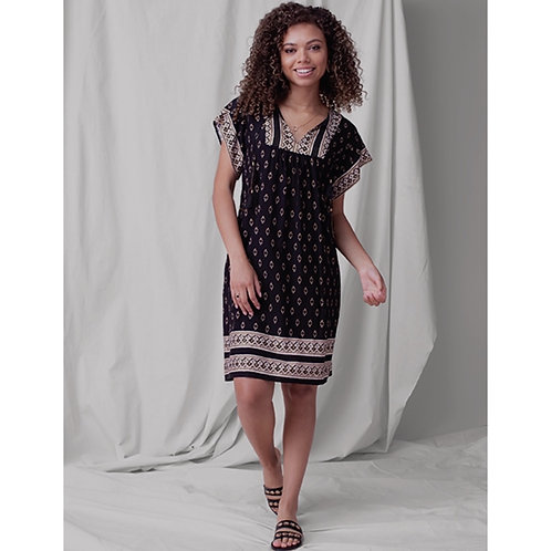 Flutter Sleeve Dress with Tassels by Tribal