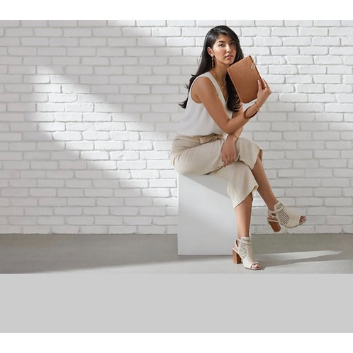 Kylie - Chevron Weave Crossbody Clutch