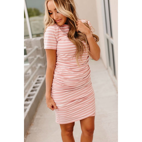 Better than Basic dress - pink and white