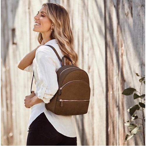 Nina- Double Zip Compact Backpack
