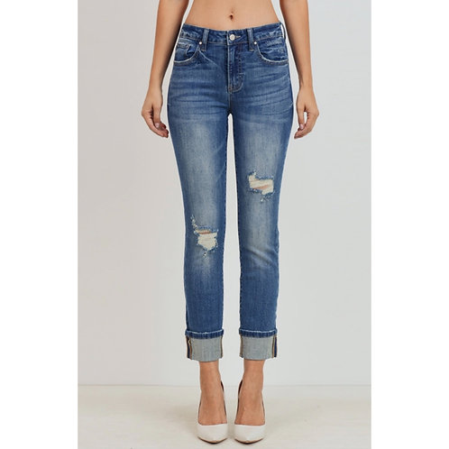 Distressed Relaxed Skinny Jean