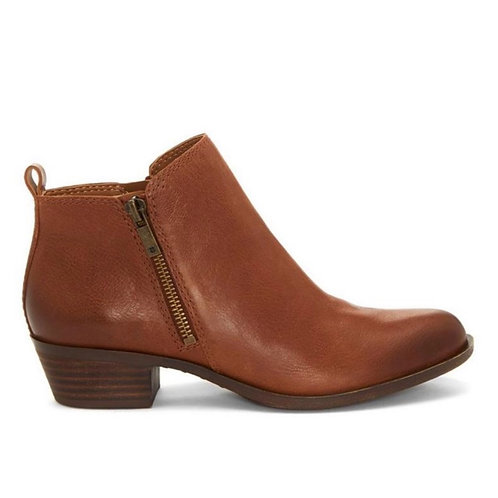 Lucky Brand- Basel - Toffee Leather Flat Bootie