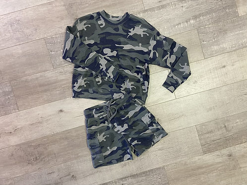Camo Print Waffle Short by RD
