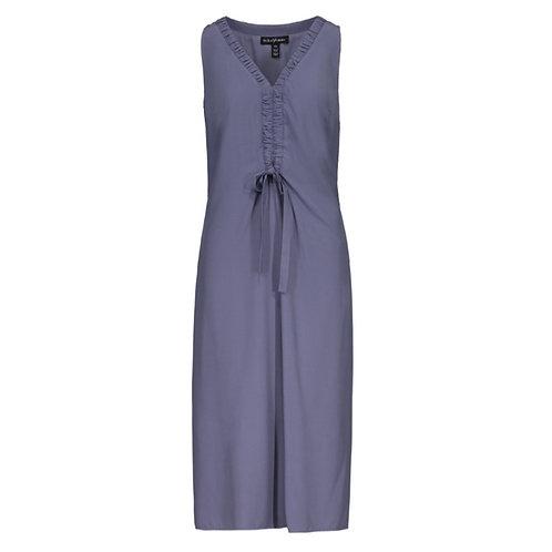 Sleeveless V-neck tie dress