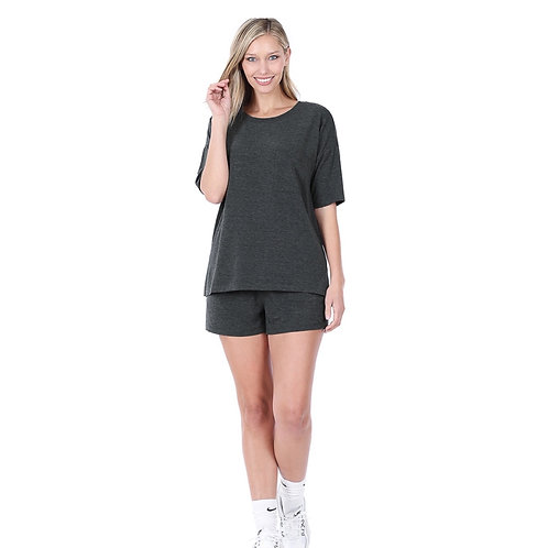 Full set - casual shorts and tee