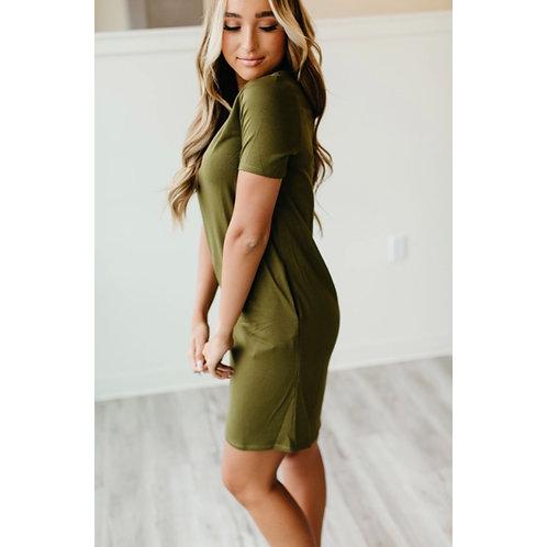 Ollie Dress - Olive