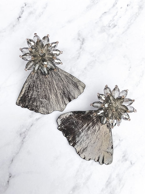 Ginko Leaves Statement Earrings
