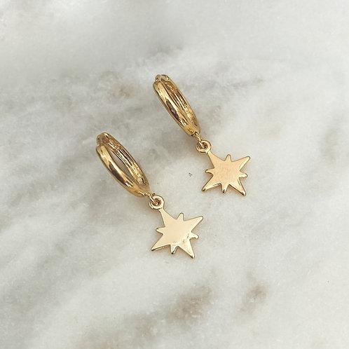 Star Huggie Hoop Earrings