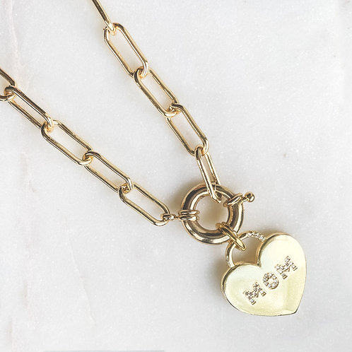 MOM Clasp Necklace
