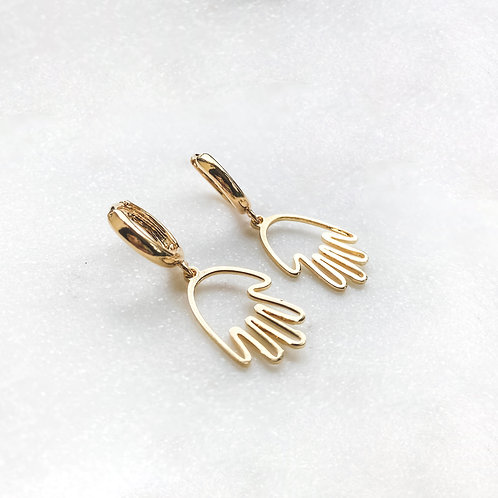 Hand Hoop Earrings