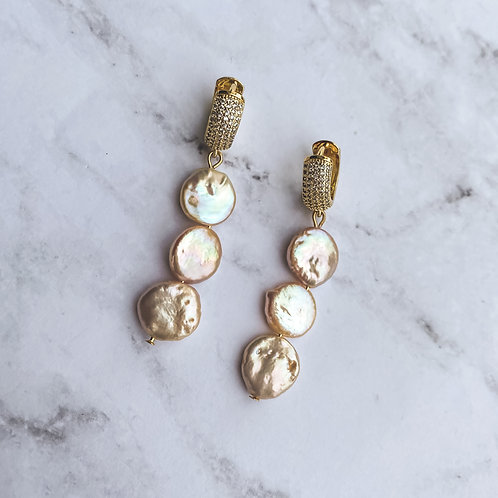 Pearls & Pave Earrings