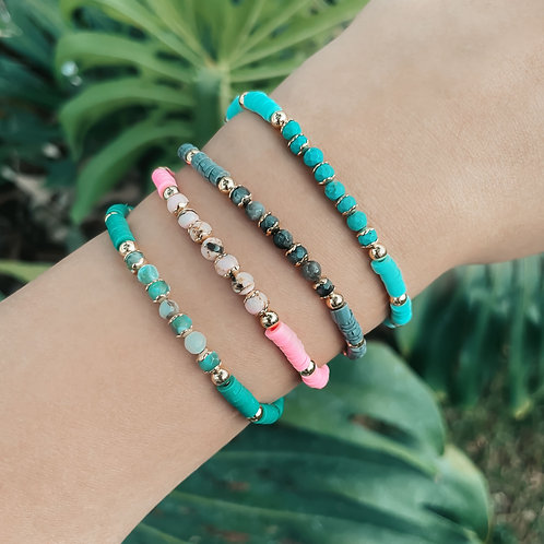 Puca With Natural Stones Bracelets