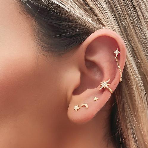 Ear Candy Moon & Star Piercings