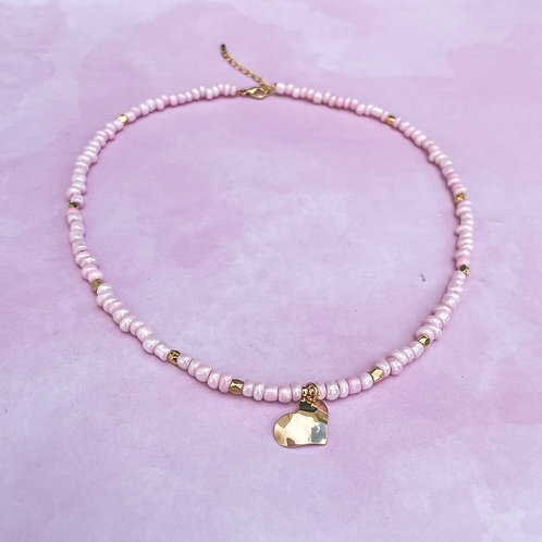 Sweet Heart Pink Necklace