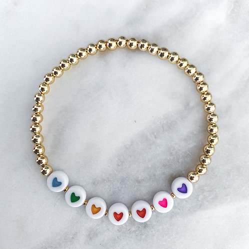 Love + Colorful & Gold Bracelet