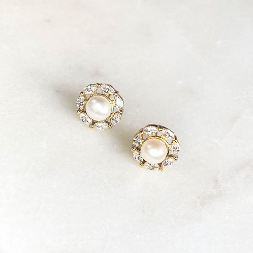 Pearl & Zirconia Earrings