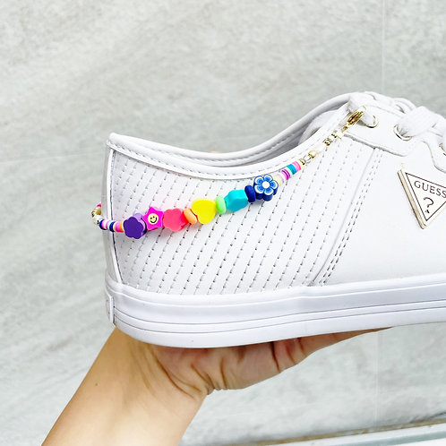 Rainbow & Pearls Sneaker Strap