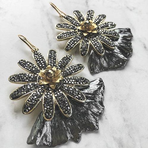 Flower Ginko Earrings