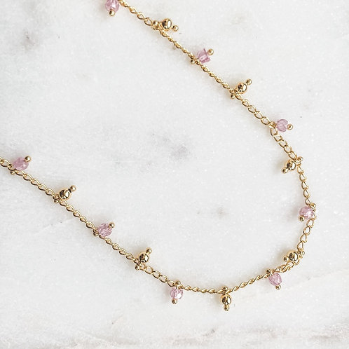 Tiny Crystals Chain Necklace