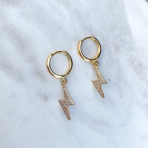 GRL PWR Hoop Earrings