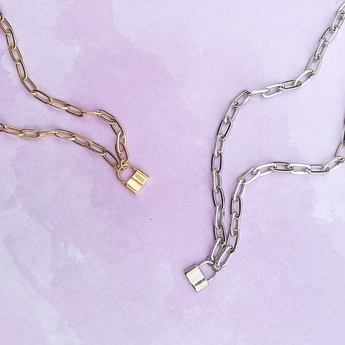 Mini Lock Necklace