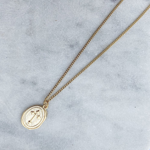 Cross Medal Necklace