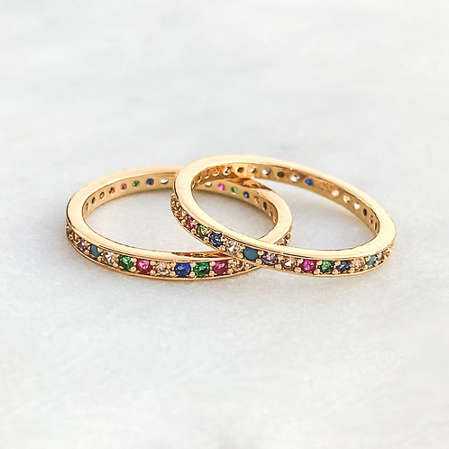 Rainbow Stackable Ring
