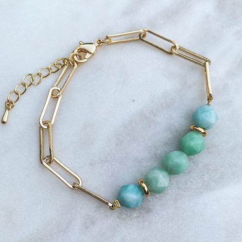 Jade & Chain Bracelet