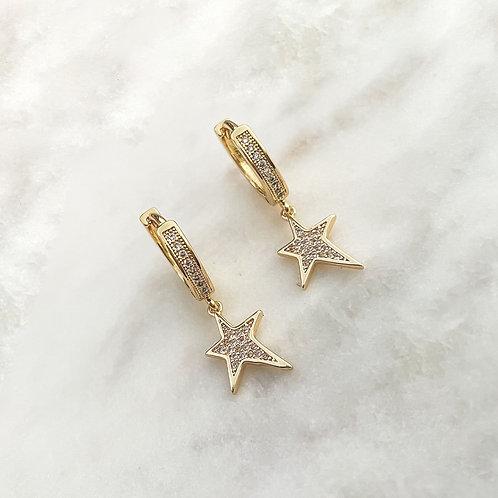 Zirconia Star Huggies