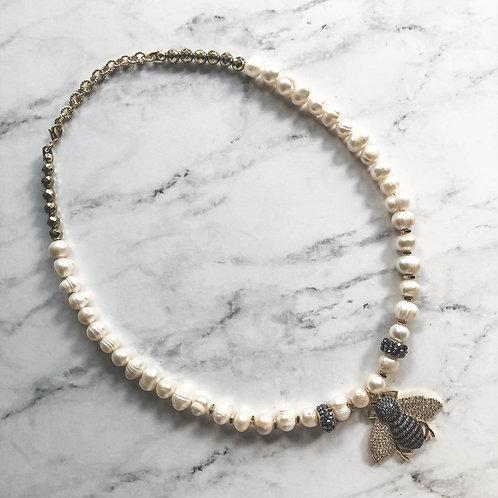 Pearls & Hematite Necklace