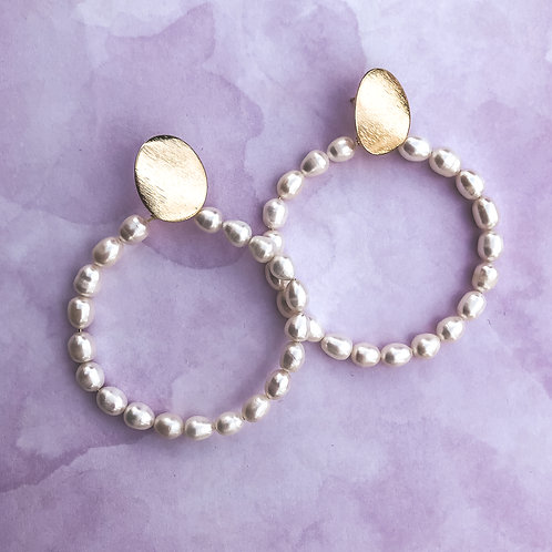 Pearls Hoops