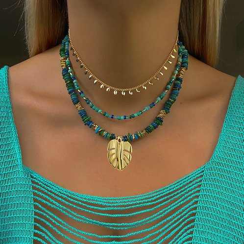 Tropical Vibes Stone Necklace