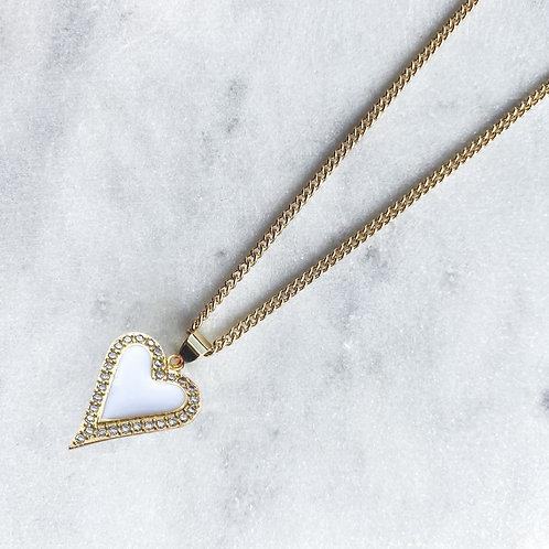 Mi Corazón Zirconia Necklaces