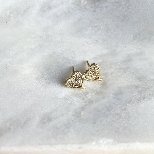 Zirconia Heart Earrings