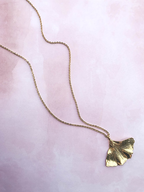 Ginko Leave Necklace