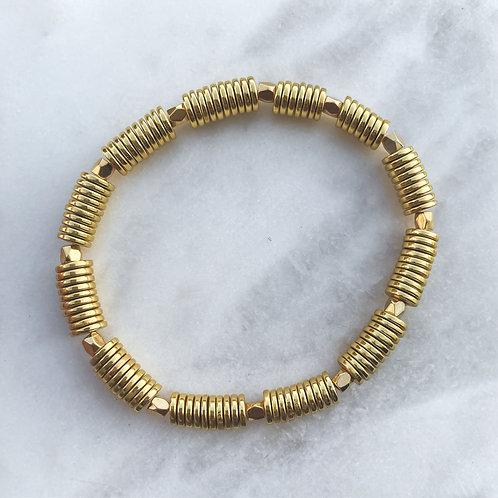 Round Hematite Accent Bracelet