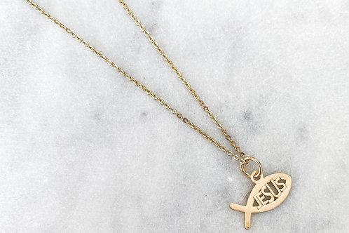 Ichtus Symbol Necklace