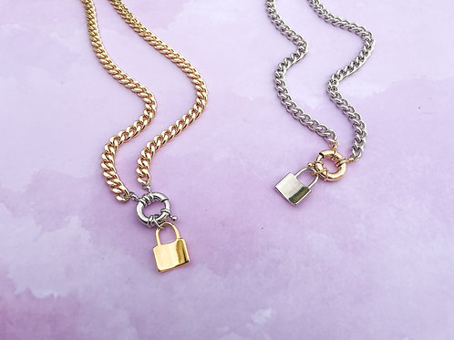 Padlock Link Chain Necklace