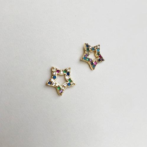 Star Rainbow Earrings