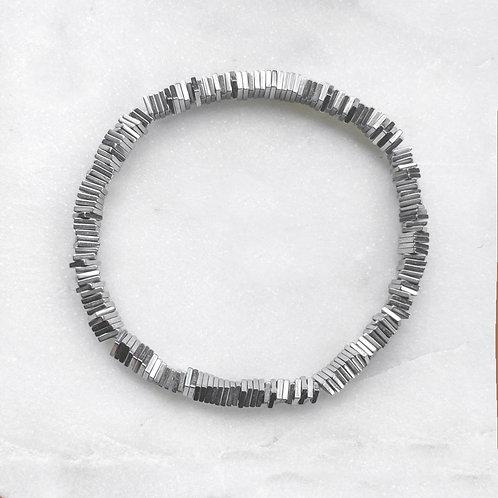 Hematite Geometric Bracelet