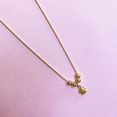 Ladybug Necklace For Little Girls