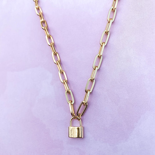 Mini Lock Necklace